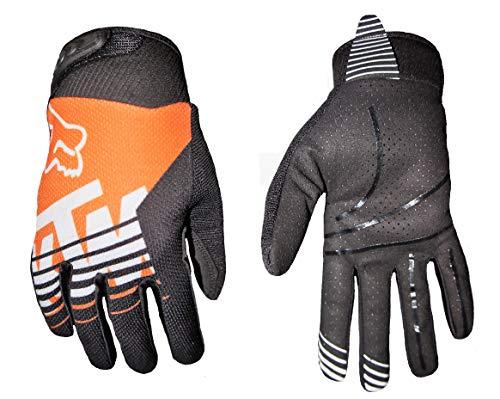 Guantes Motocross Enduro MTB Trial Freestyle Bici negro\naranja (XL)