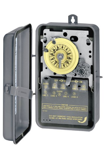 Intermatic T1471BCR 4PST 24 Hour 125-Volt Time Switch with 3R Steel Case, Color