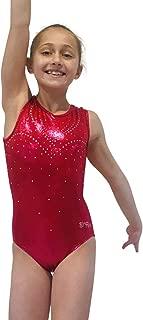 LIL'FOX Gymnastics Leotards for Girls - Dance, Tumbling, Acrobatics - Shiny Foil Gymnastics Leotard