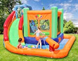 BESTPARTY Inflatable Kids Water Slide Spin Combo Jumper Bounce House
