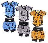 La Bortini Wickelbody Body Baby Shorts Anzug 44 50 56 62 68 74 80 86 92 98 Frühchen Reborn (gelb, 74)