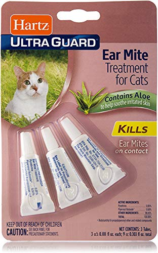 Hartz Ear Mite Treatment for Cats-3 Pack Package May Vary
