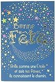 Afie 69-7089 Carte Bonne Fête Brille comme une étoile Suis tes rêves ils connaissent le chemin Or Doré Fabriqué en France