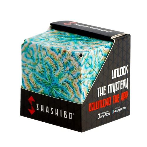 SHASHIBO Shape Shifting Box - Award-Winning, Patented Fidget Cube w/ 36 Rare Earth Magnets - Extraordinary 3D Magic Cube – Fidget Toy Transforms Into Over 70 Shapes (Undersea - Explorer Series)