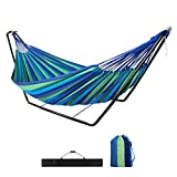 Hammock with Stand,Garden Outdoor Camping Hammock with Frame,Kid Indoor Double Swing Hammock