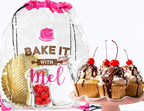 Sundae Cupcake Activity Set for Home Chefs, Events, or Parties. Creative Gift for Kids and Adults. DIY Baking Kit Complete with Recipe, Measured Ingredients, and Ice Cream Scooper