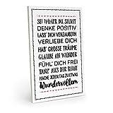 ARTFAVES Holzschild mit Spruch - SEI Immer DU SELBST - Vintage Shabby Deko-Wandbild/Türschild (schwarz-weiß)