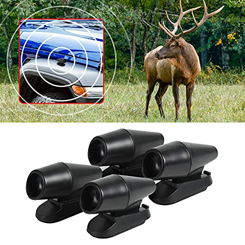 8sanlione Deer Warning Whistle for Car with Extra Tapes, 4 Pack Save Deer Whistles Repellent Devices, Animal Alert for Cars Vehicles Motorcycles