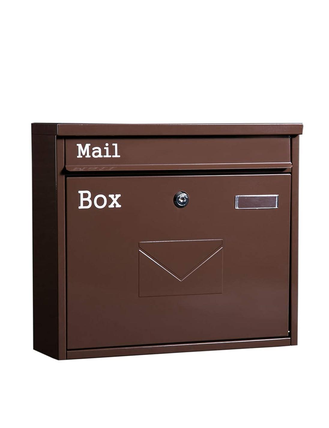 繊毛詩人ぐるぐるJIAJIA ウォールマウントされたメールボックスレトロ屋外の防雨メールボックス新聞雑誌ロック付き メールボックス