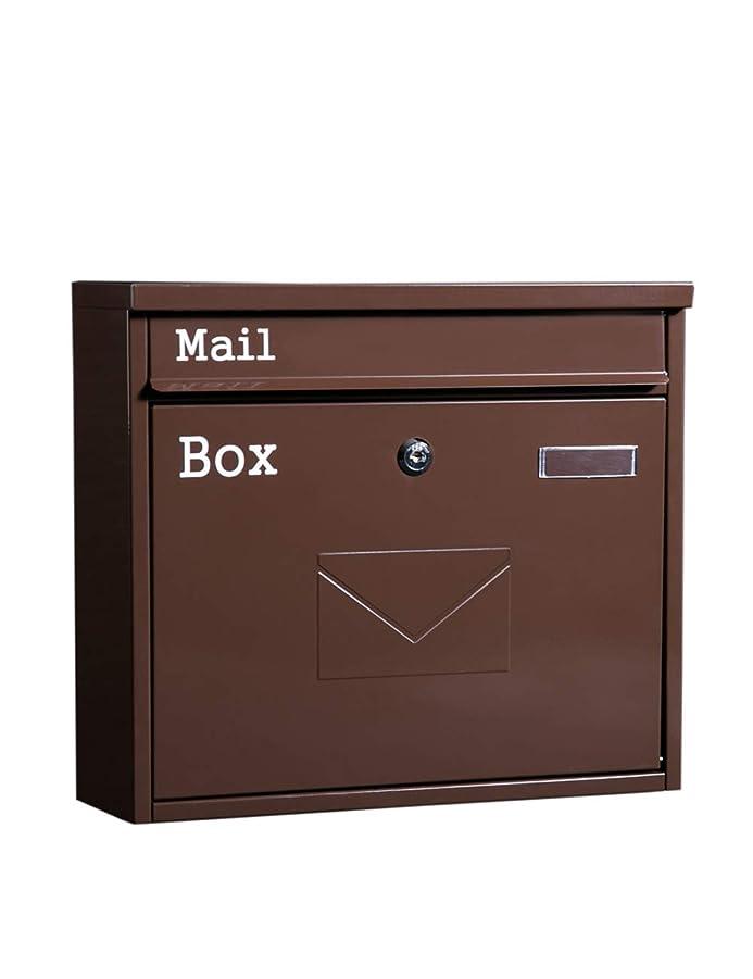 ロードハウス満たす観察XINGZHE ウォールマウントされたメールボックスレトロ屋外の防雨メールボックス新聞雑誌ロック付き メールボックス
