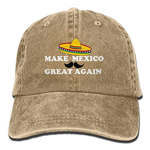 Trushop Make Mexico Great Again Mom Hat Baseball Cap Trucker Cap Washed Denim Cotton Adjustable...