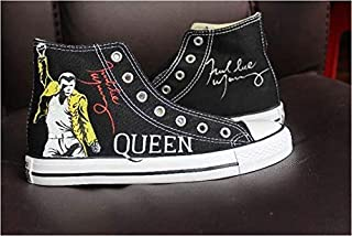 Freddie Mercury Shoes Sneakers Hi Tops Customised Shoes for Women Men Hand Painted Shoes