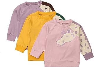 One Persent Toddelr Baby Girl Boys Fall/Winter Giraffe Print Sweatshirt Long Sleeve Hoodies Pullover Blouse