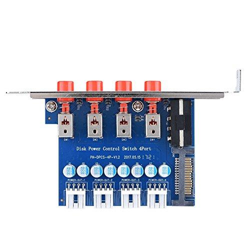 Richer-R Disco Duro Interruptor de Control, IDE SATA 15P Interruptor de Alimentación Mecánico,HDD Power Switch para Computadora de Escritorio con Posición de Expansión de 120 mm