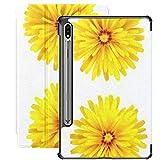 Funda para Galaxy Tab S7 Funda Delgada y Liviana con Soporte para Tableta Samsung Galaxy Tab S7 de 11 Pulgadas Sm-t870 Sm-t875 Sm-t878 2020 Release, Dandelion Set Cuatro Flores aisladas en