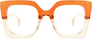 Zeelool Chic Plastic Oversized Thick Square Eyeglasses for Women with Non-prescription Clear Lens Qatar ZOP01892