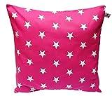 Kissenhülle Kissenbezug für Kissen Sterne Farbwahl 40 X 40 cm Blau Pink Violett Lila Magenta Grün...
