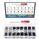 Glarks 880pcs Laptop Notebook Computer Screw Replacement Repair Kit for Lenovo Dell Toshiba Sony Samsung HP Gateway (Extra: Phillips Screwdriver)