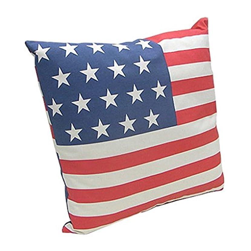 沼地グッゲンハイム美術館分割ビーグッド(begood) Flag Canvas CUSHION (USA) マルチ 45×45×12cm
