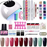 Saint-acior Kit 10pc Vernis Semi Permanent à Ongle 24W UV/LED Lampe Professionnelle Nail Machine...