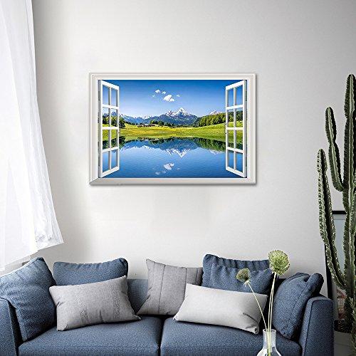 Gran cielo Azul 3d autoadhesivo extraíble Break a través de la pared vinilo adhesivo decorativo para pared de decoración Mural Art Decals