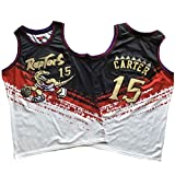 SHR-GCHAO Camiseta De Baloncesto Masculino, Toronto Raptors # 15 Vince Carter Retro Dos Colores Costura Jersey, Transpirable De Tela Unisex del Ventilador De Baloncesto Uniforme,XL