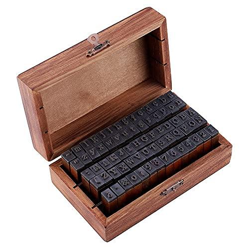 70 piezas de sellos de letras del alfabeto juego de sellos de perforación artesanal para álbum de recortes