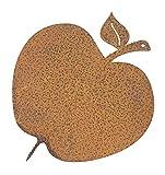 ecosoul Gartendeko Apfel mit Dorn Metall Rost Deko Obst baumstamm