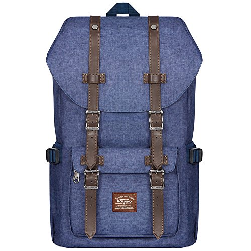 KAUKKO Laptop Outdoor Backpack Travel Hiking Camping Rucksack Casual College Daypack Fits 15' (23BLUE)