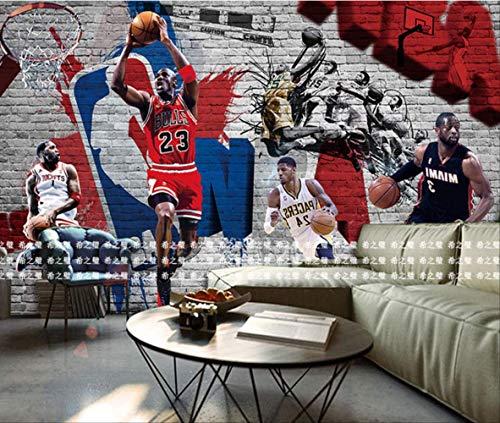 3d Wallpaper Murales 3d Foto Pared Mural Wallpaper Nba Baloncesto Estrella Wallpaper Tema Restaurante Bar Fondo Dolor De Pared Ting Jordan Wallpaper Altura 400 cm * Width280cm Un
