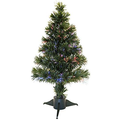 2ft 60cm Green Fibre Optic Artificial Desk Table Top Festive Christmas Xmas Tree