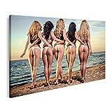 Bild auf Leinwand sexy Damen Strand Rücken fünf schöne