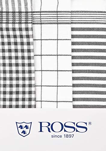 Ross Geschirrtücher Baumwolle Größe 50 x 70 cm in 4 (grau) 3er Pack