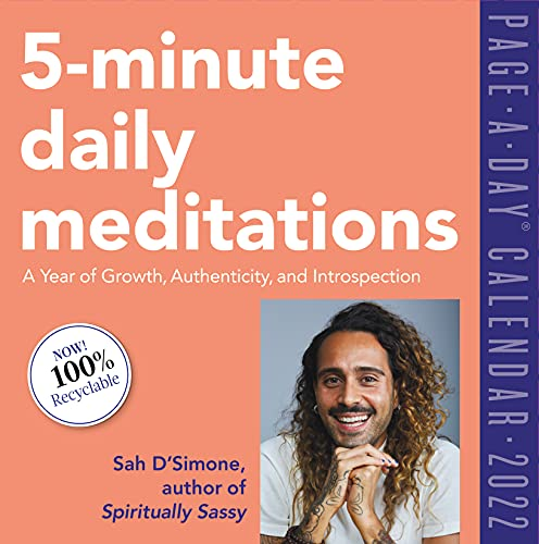 5-Minute Daily Meditations Page-A-Day Calendar 2022: A Year of Growth, Authenticity, and Introspection.