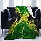 Olverz Manta de felpa suave con la bandera de Jama para todas las estaciones, manta resistente a la decoloración, cómoda manta de felpa para coche, cama, hogar, camping, 201 x 152 cm