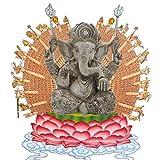 Pevfeciy La Escultura de Resina Piedra Arenisca Hue Buddism Godness Guanyin Estatua Hecha a Mano estatuilla Feng Shui Decoración Vignéswara,B