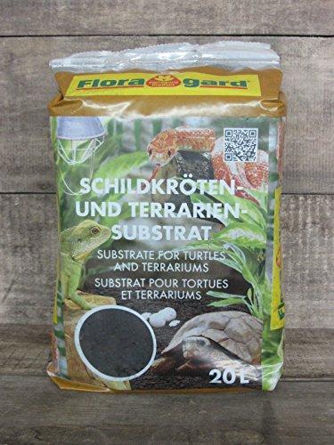 Floragard Schildkrötenerde Schildkrötensubstrat & Terrarienerde - Bodengrund für Terrarien, 20L (1x20L)