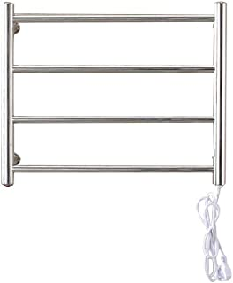 FOMT 304 Accesorios de baño de Acero Inoxidable Radiador de Toallas Electric Towel Rail Calefacción Gold Towel Racks Dry Warder,Silver