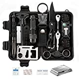 Survival Kit 15 in 1,Gifts for Men Dad Husband Fathers Day,Fishing Hunting Birthday Gifts Ideas for Him Boyfriend Teen Boy, Cool Gadget Stocking Stuffer, Survival Gear, Emergency Camping Gear