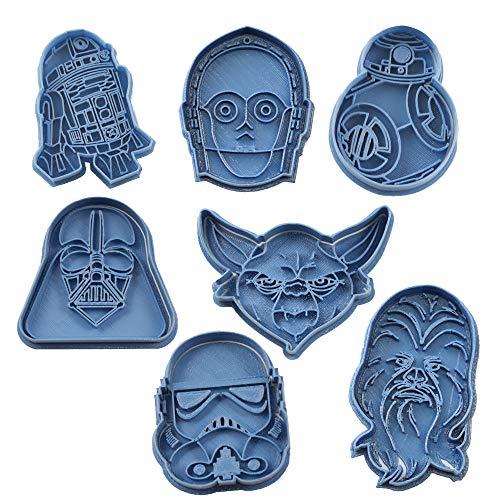 Cuticuter Star Wars Pack Moule de Biscuit, Bleu, 16 x 14 x 1.5 cm, 7 pièces