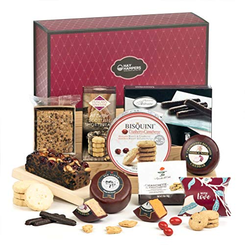 Hay Hampers Our Flavourites - Cheese & Biscuits (Sweet and Savoury) Box - Free UK Delivery - Hamper Gift for Easter