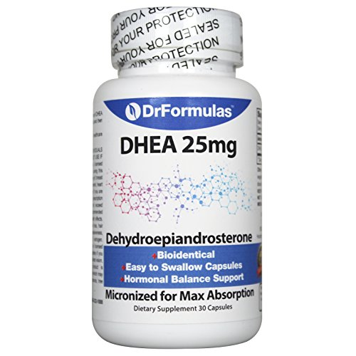 DrFormulas DHEA 25mg Booster for Women and Men | Dehydroepiandrosterone Pills Testosterone and Androgen Support, 30 Capsules (not Cream or Gel)