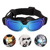 PEDOMUS Hunde Sonnenbrille Verstellbarer Riemen UV-Sonnenbrillen Wasserdicht Winddicht Schutz für
