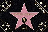 Eule-Design.de Fußmatte Walk of Fame mit Namen Ihr personalisiertes Geschenk für Familie Paare Männer Frauen Hollywood Stern Star (67x44) - 3