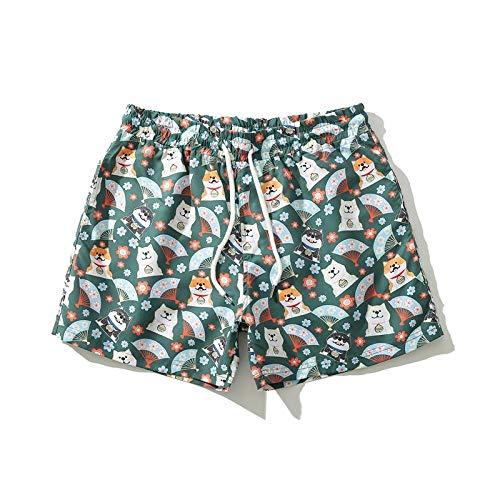 Strandhose Herren Badehose Hot Spring Shorts Schnelltrocknende Badehose-D_M