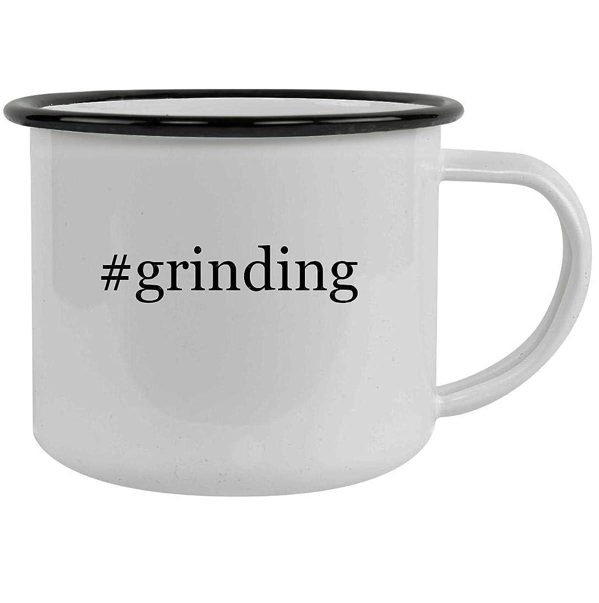 #grinding - 12oz Hashtag Stainless Steel Camping Mug, Black