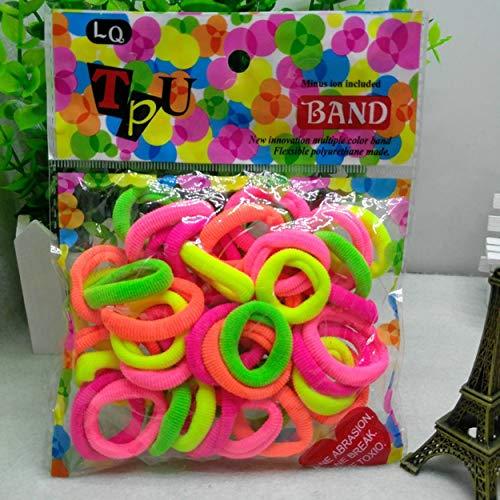 Elastische Kinder Haarring Haarseil Bonbonfarbener kleiner Handtuchring Gummiband Erwachsene Kinder Verfügbare Farbmischung 40 - Mehrfarbig