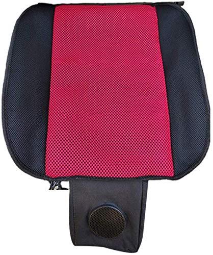 Car Front Row Anlage Kissen atmungsaktiv Wear-Resistant Kühler Pad Ventilated Feuchtigkeitsaufnahme Air Pad für Auto-Haus Bürostuhl Stuhl,Rot,USB