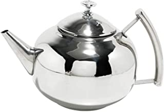 HJW Handige waterkoker Sooiy RVS theepot met zeef vaatwasser (theepot met zeef roestvrij staal) Tea Cup,1L