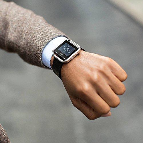 Fitbit Blaze Smart Fitness Watch, Black, Silver, Large (6.7 - 8.1 Inch)